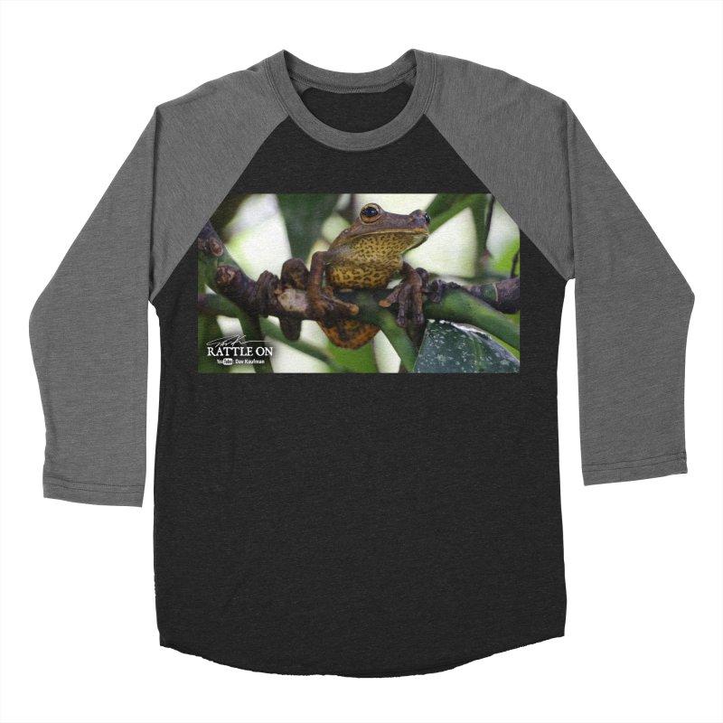 Map Frog Men's Baseball Triblend Longsleeve T-Shirt by Dav Kaufman's Swag Shop!