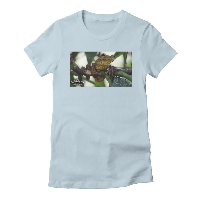 Map Frog Women's Fitted T-Shirt by Dav Kaufman's Swag Shop!
