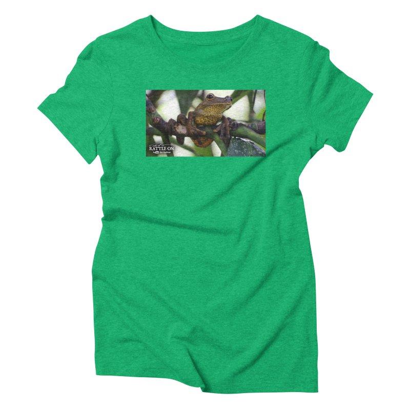 Map Frog Women's Triblend T-Shirt by Dav Kaufman's Swag Shop!