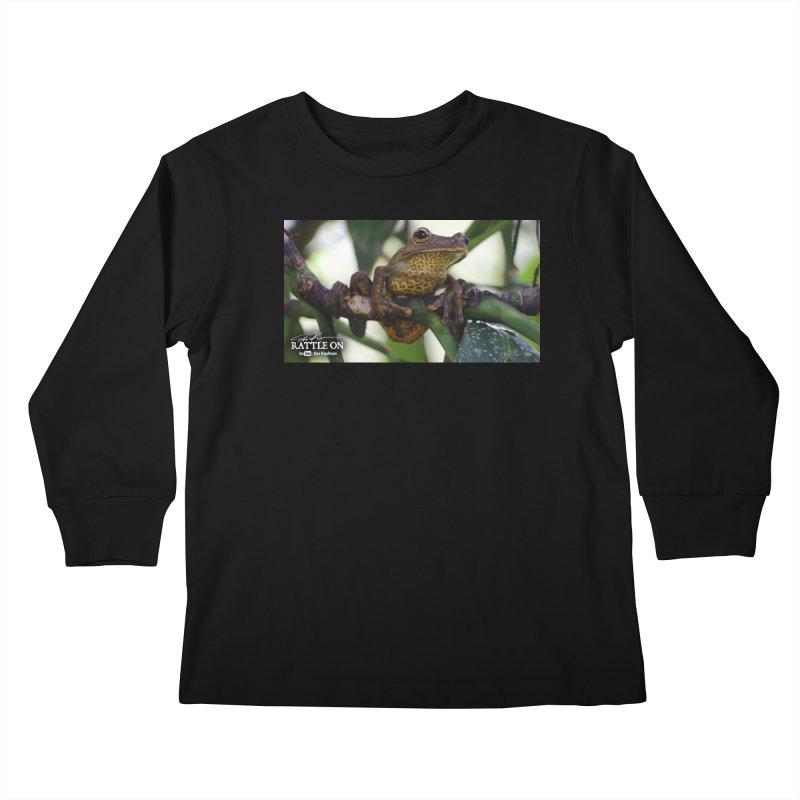 Map Frog Kids Longsleeve T-Shirt by Dav Kaufman's Swag Shop!