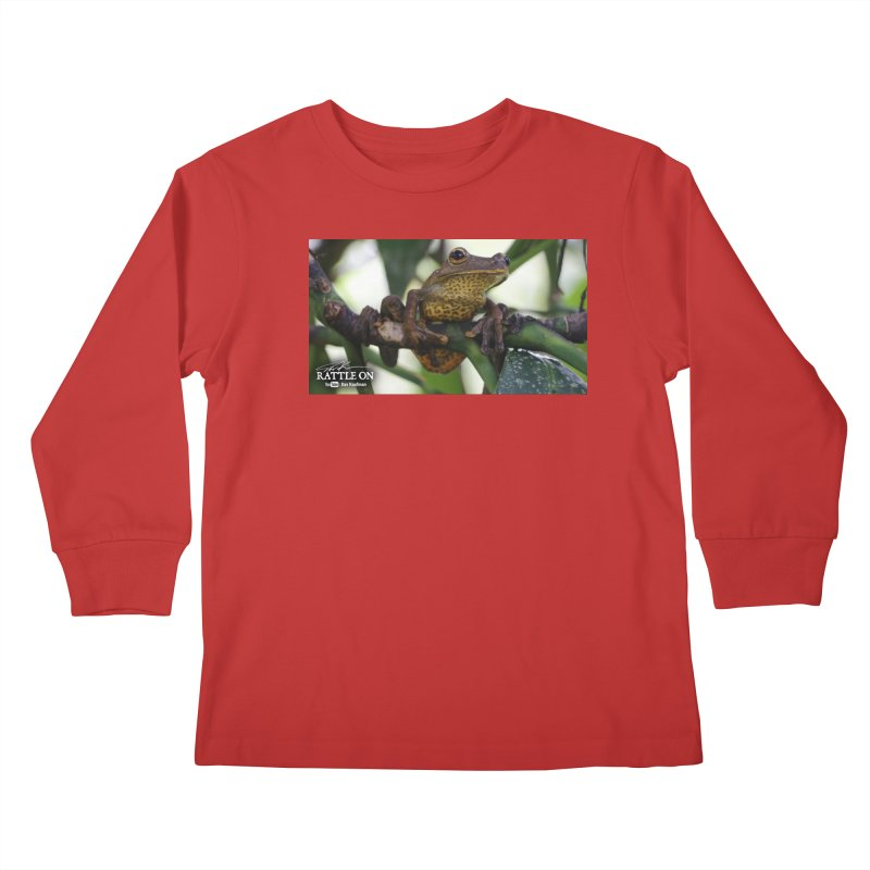 Map Frog Kids Longsleeve T-Shirt by Dav Kaufman's Swag Shop!