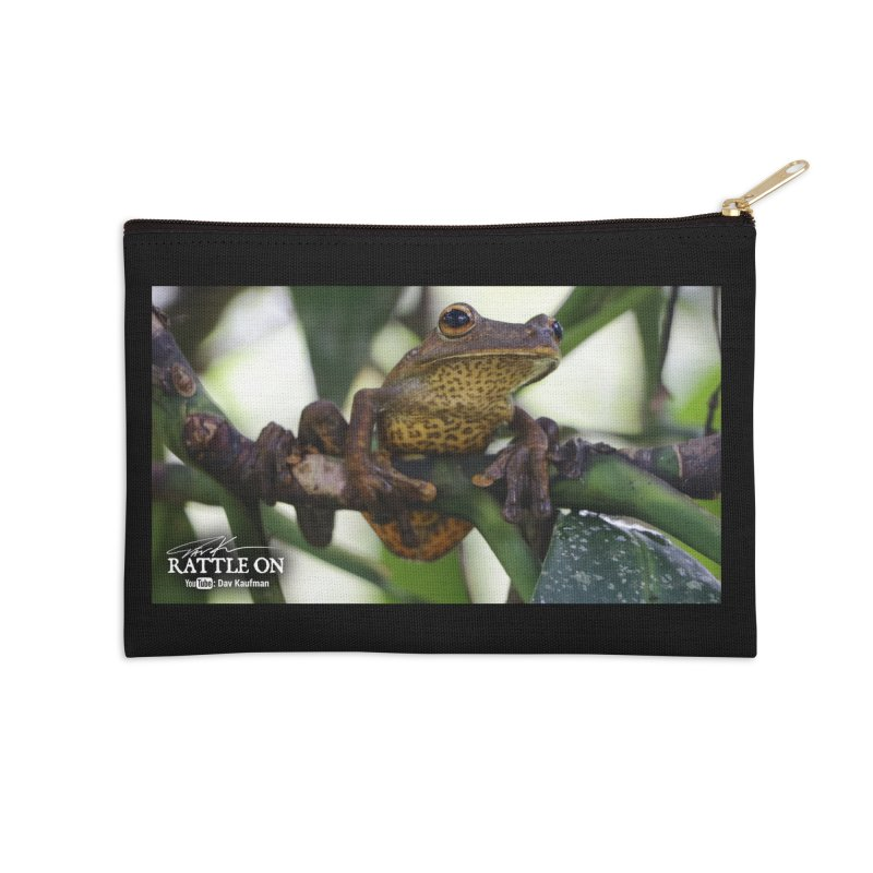 Map Frog Accessories Zip Pouch by Dav Kaufman's Swag Shop!