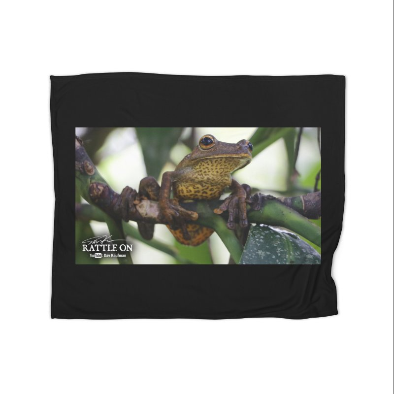 Map Frog Home Fleece Blanket Blanket by Dav Kaufman's Swag Shop!