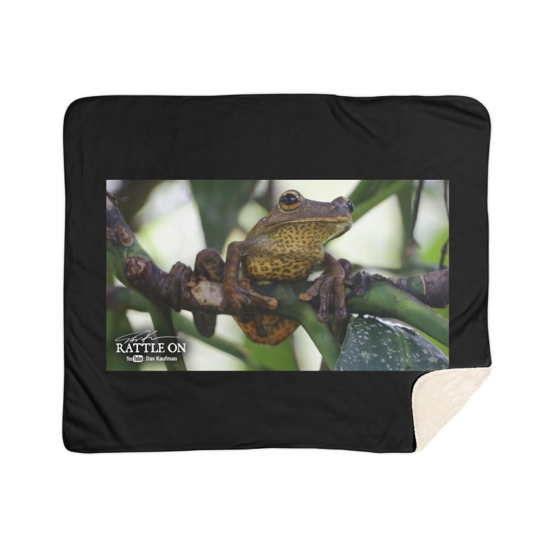 Map Frog Home Sherpa Blanket Blanket by Dav Kaufman's Swag Shop!