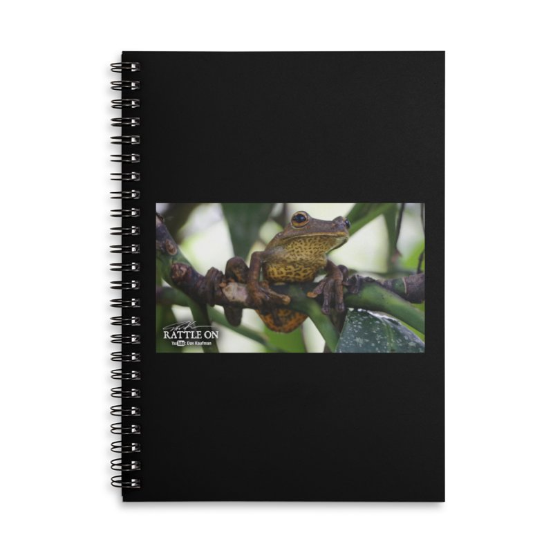 Map Frog Accessories Lined Spiral Notebook by Dav Kaufman's Swag Shop!