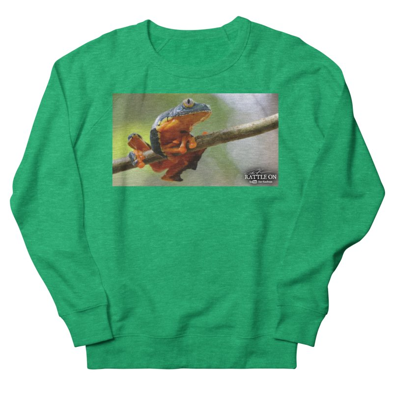 Amazon Leaf Frog Women's Sweatshirt by Dav Kaufman's Swag Shop!