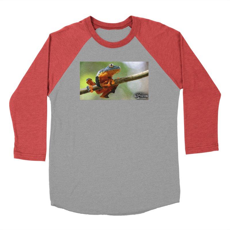 Amazon Leaf Frog Men's Baseball Triblend Longsleeve T-Shirt by Dav Kaufman's Swag Shop!
