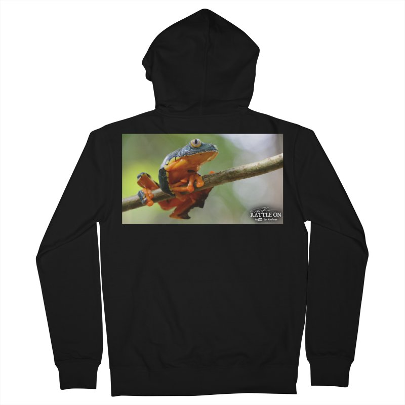 Amazon Leaf Frog Men's French Terry Zip-Up Hoody by Dav Kaufman's Swag Shop!