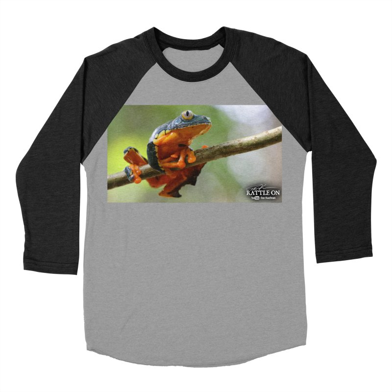Amazon Leaf Frog Men's Baseball Triblend Longsleeve T-Shirt by Dav Kaufman's Swag Shop!