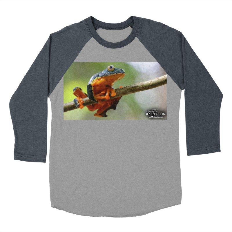 Amazon Leaf Frog Men's Baseball Triblend T-Shirt by Dav Kaufman's Swag Shop!