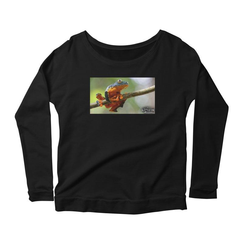 Amazon Leaf Frog Women's Scoop Neck Longsleeve T-Shirt by Dav Kaufman's Swag Shop!