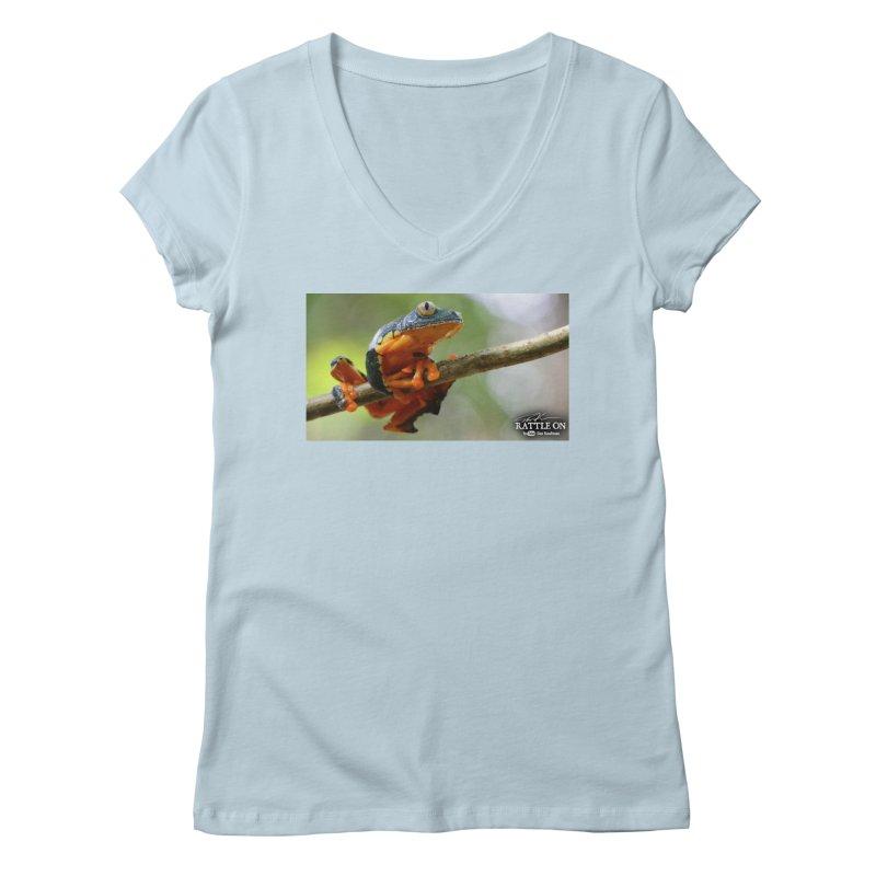 Amazon Leaf Frog Women's Regular V-Neck by Dav Kaufman's Swag Shop!