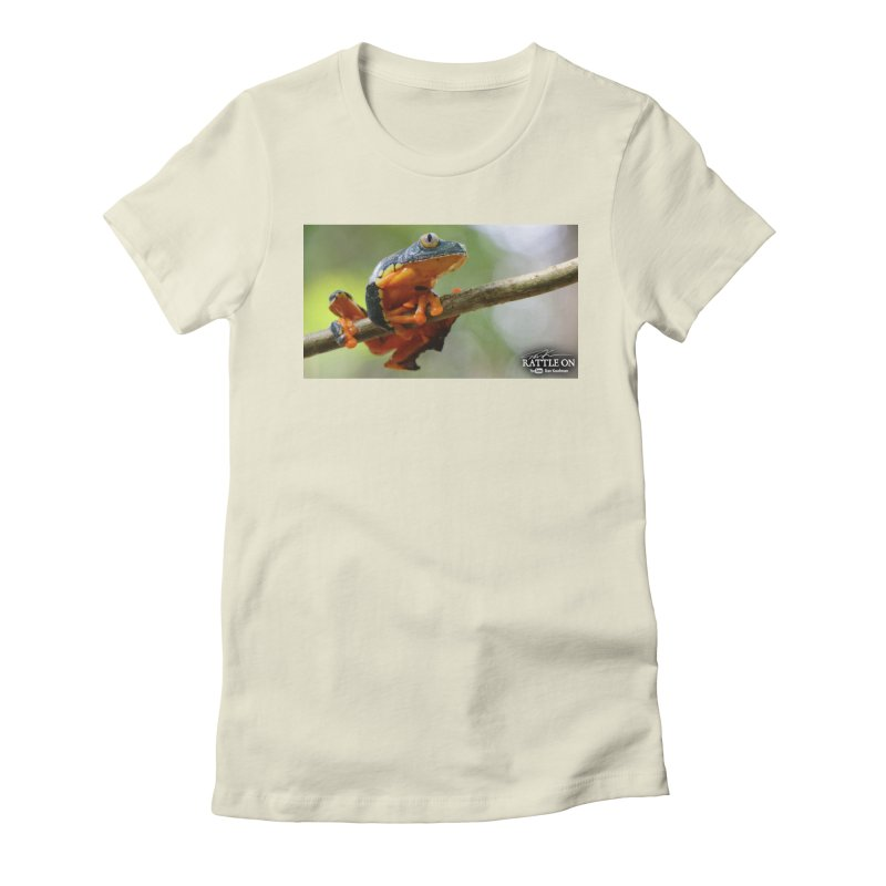 Amazon Leaf Frog Women's Fitted T-Shirt by Dav Kaufman's Swag Shop!