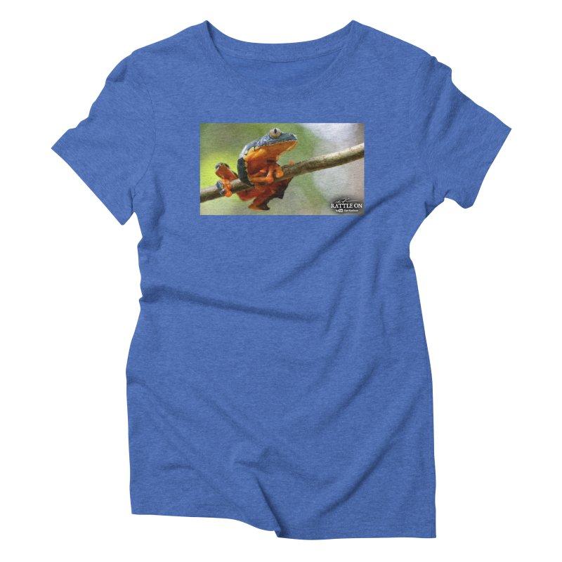 Amazon Leaf Frog Women's Triblend T-Shirt by Dav Kaufman's Swag Shop!
