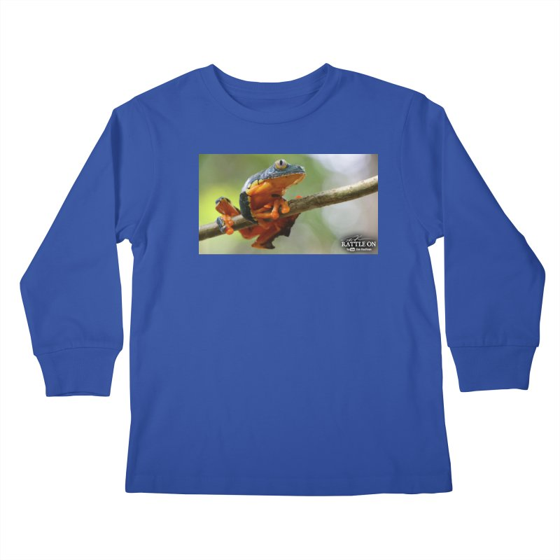 Amazon Leaf Frog Kids Longsleeve T-Shirt by Dav Kaufman's Swag Shop!