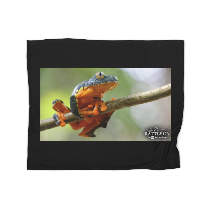 Amazon Leaf Frog Home Fleece Blanket Blanket by Dav Kaufman's Swag Shop!