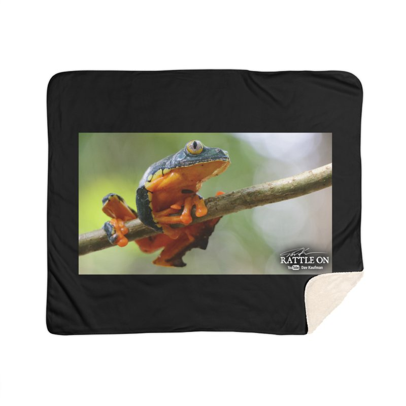 Amazon Leaf Frog Home Sherpa Blanket Blanket by Dav Kaufman's Swag Shop!
