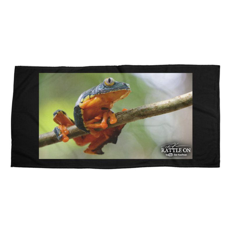 Amazon Leaf Frog Accessories Beach Towel by Dav Kaufman's Swag Shop!
