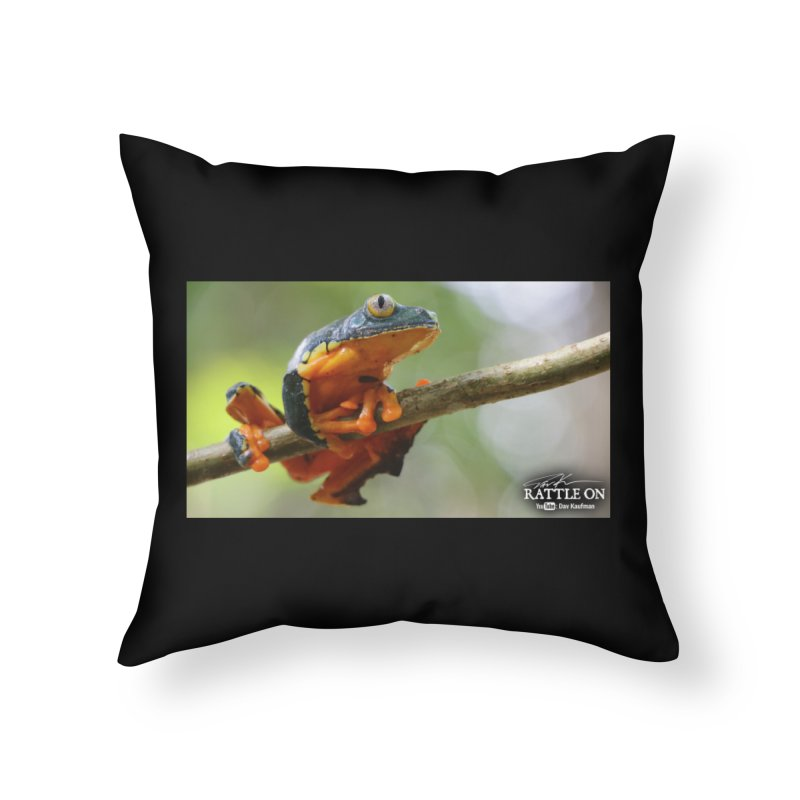 Amazon Leaf Frog Home Throw Pillow by Dav Kaufman's Swag Shop!