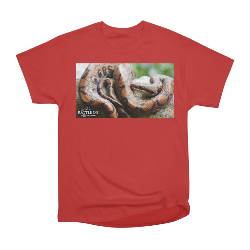 Peruvian Rainbow Boa Women's Heavyweight Unisex T-Shirt by Dav Kaufman's Swag Shop!