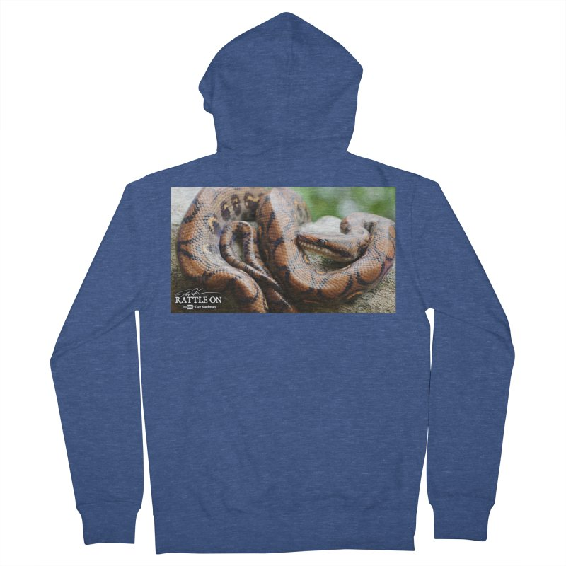 Peruvian Rainbow Boa Women's French Terry Zip-Up Hoody by Dav Kaufman's Swag Shop!