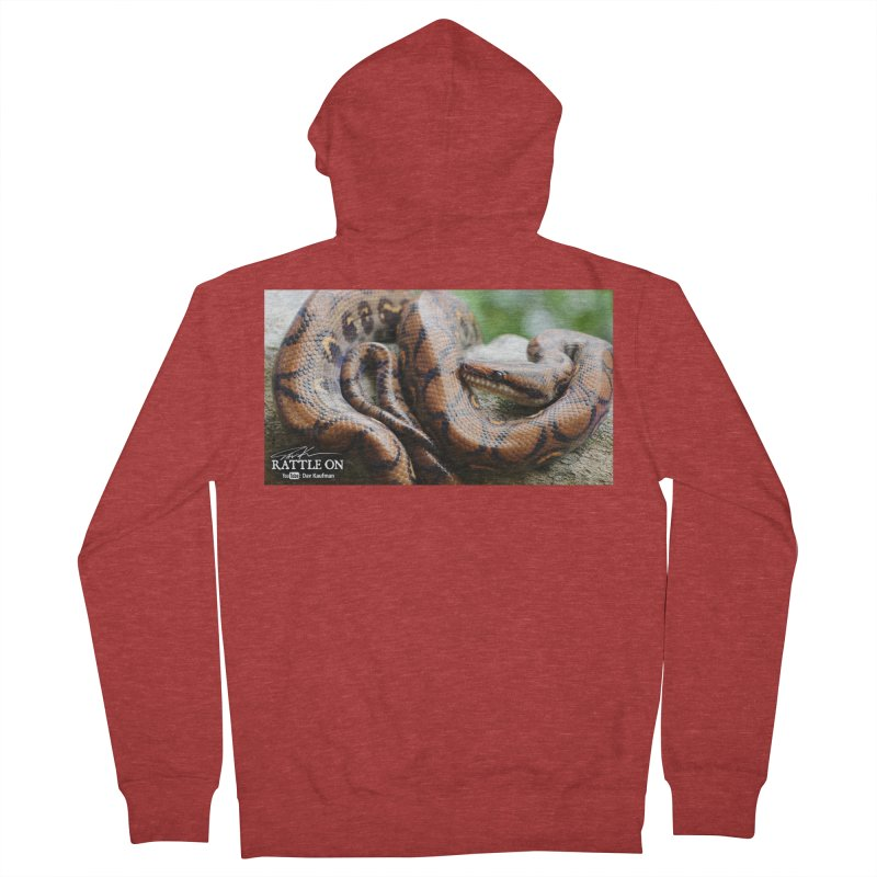 Peruvian Rainbow Boa Women's Zip-Up Hoody by Dav Kaufman's Swag Shop!