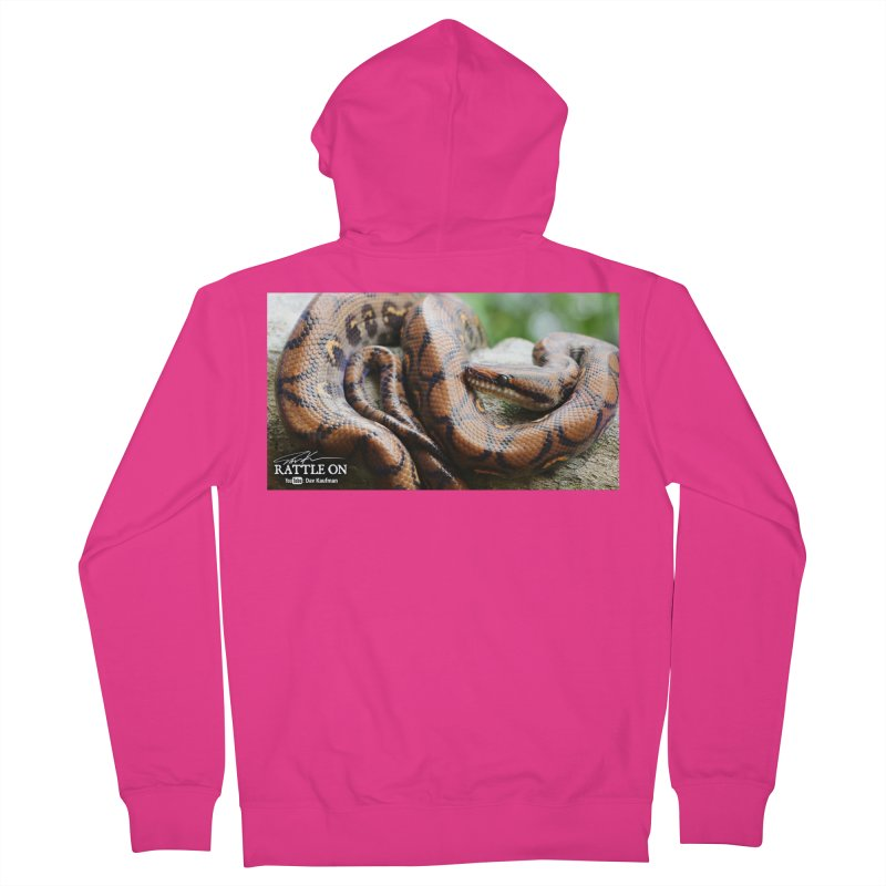 Peruvian Rainbow Boa Men's French Terry Zip-Up Hoody by Dav Kaufman's Swag Shop!