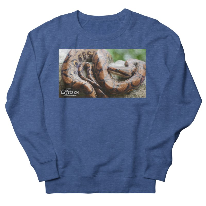 Peruvian Rainbow Boa Men's French Terry Sweatshirt by Dav Kaufman's Swag Shop!