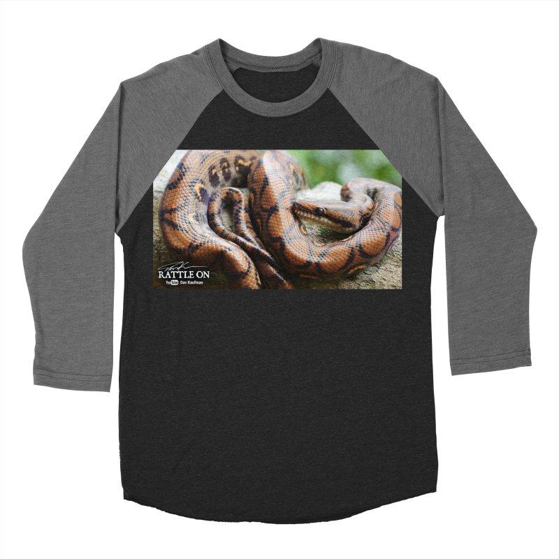 Peruvian Rainbow Boa Men's Baseball Triblend T-Shirt by Dav Kaufman's Swag Shop!