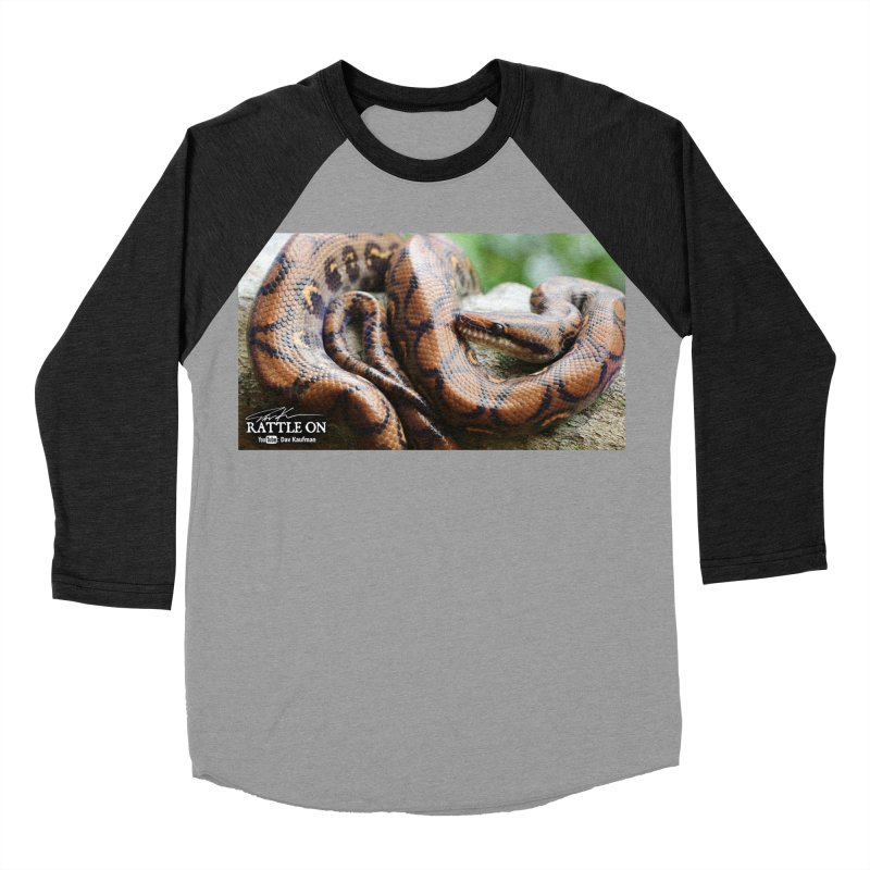 Peruvian Rainbow Boa Men's Baseball Triblend Longsleeve T-Shirt by Dav Kaufman's Swag Shop!