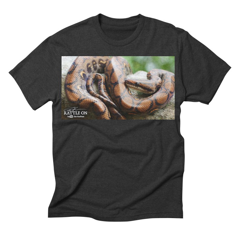 Peruvian Rainbow Boa Men's Triblend T-shirt by Dav Kaufman's Swag Shop!