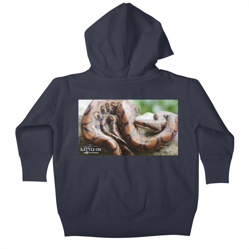Peruvian Rainbow Boa Kids Baby Zip-Up Hoody by Dav Kaufman's Swag Shop!