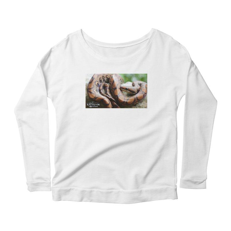 Peruvian Rainbow Boa Women's Scoop Neck Longsleeve T-Shirt by Dav Kaufman's Swag Shop!
