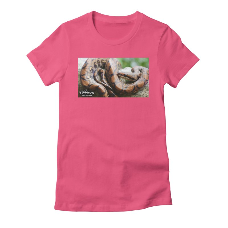 Peruvian Rainbow Boa Women's Fitted T-Shirt by Dav Kaufman's Swag Shop!