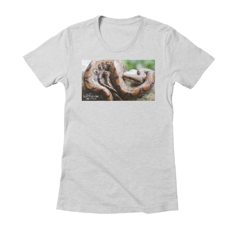 Peruvian Rainbow Boa Women's Fitted T-Shirt by Dav Kaufman's Swag Shop!