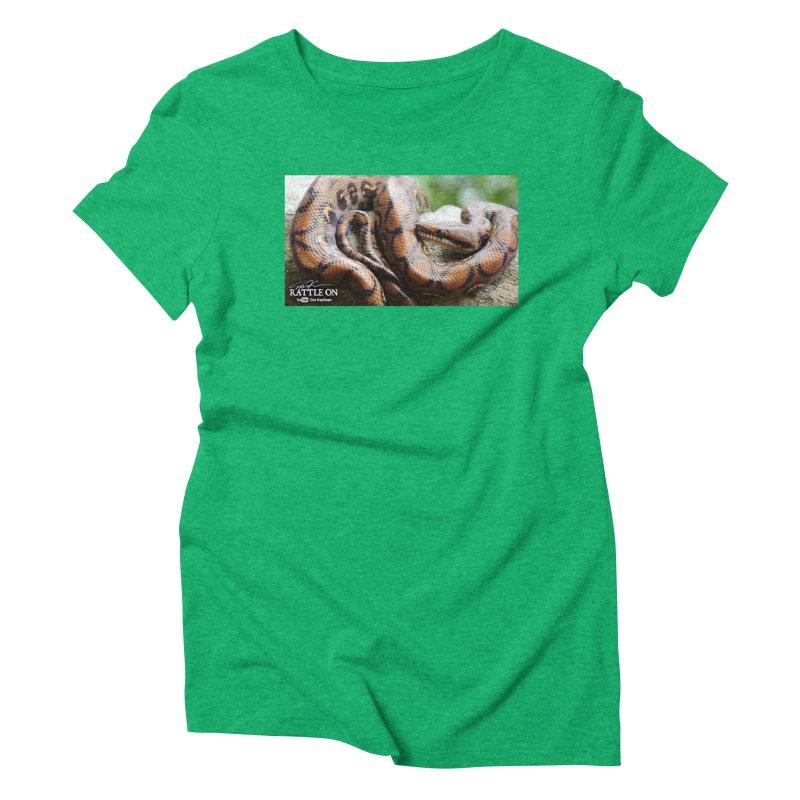 Peruvian Rainbow Boa Women's Triblend T-Shirt by Dav Kaufman's Swag Shop!