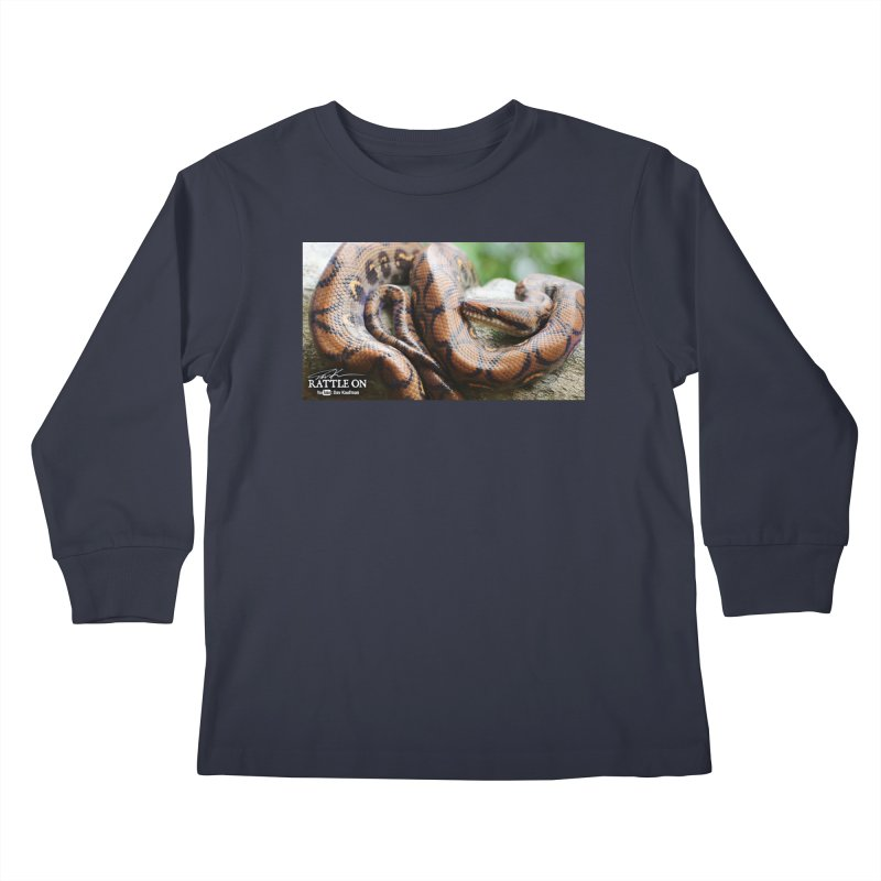 Peruvian Rainbow Boa Kids Longsleeve T-Shirt by Dav Kaufman's Swag Shop!