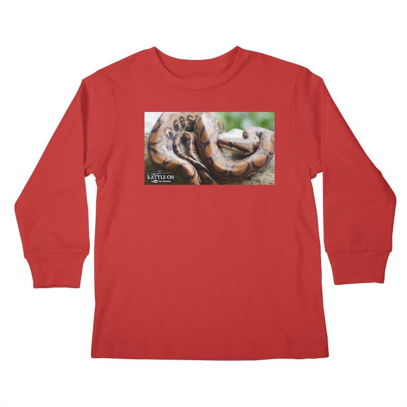 Peruvian Rainbow Boa Kids Longsleeve T-Shirt by Dav Kaufman's Swag Shop!