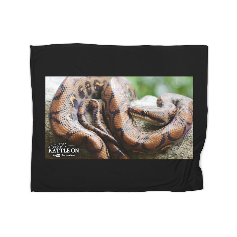 Peruvian Rainbow Boa Home Fleece Blanket Blanket by Dav Kaufman's Swag Shop!
