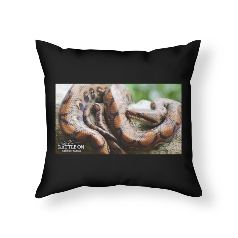 Peruvian Rainbow Boa Home Throw Pillow by Dav Kaufman's Swag Shop!