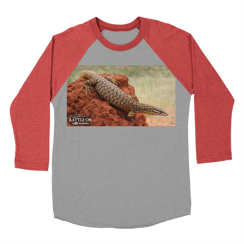 Red Ackie Men's Baseball Triblend Longsleeve T-Shirt by Dav Kaufman's Swag Shop!