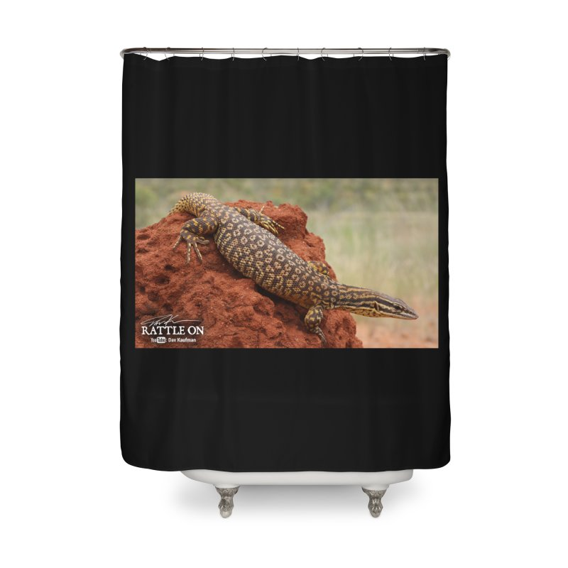 Red Ackie Home Shower Curtain by Dav Kaufman's Swag Shop!