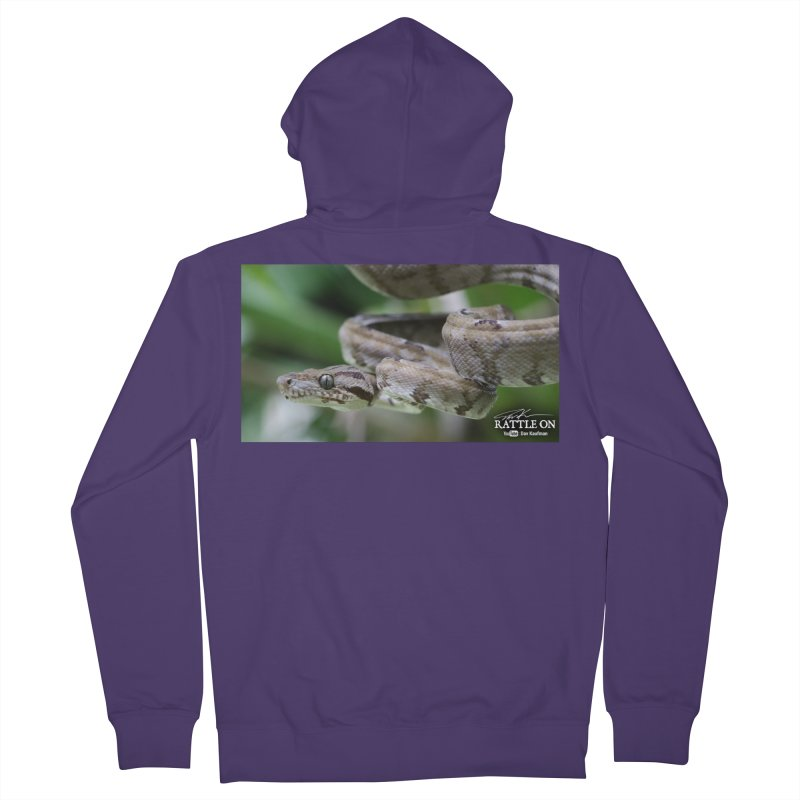 Amazon Tree Boa Women's French Terry Zip-Up Hoody by Dav Kaufman's Swag Shop!
