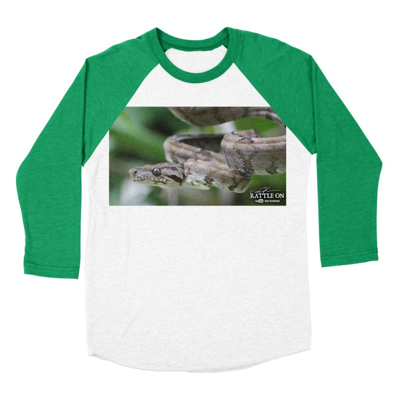Amazon Tree Boa Women's Baseball Triblend Longsleeve T-Shirt by Dav Kaufman's Swag Shop!