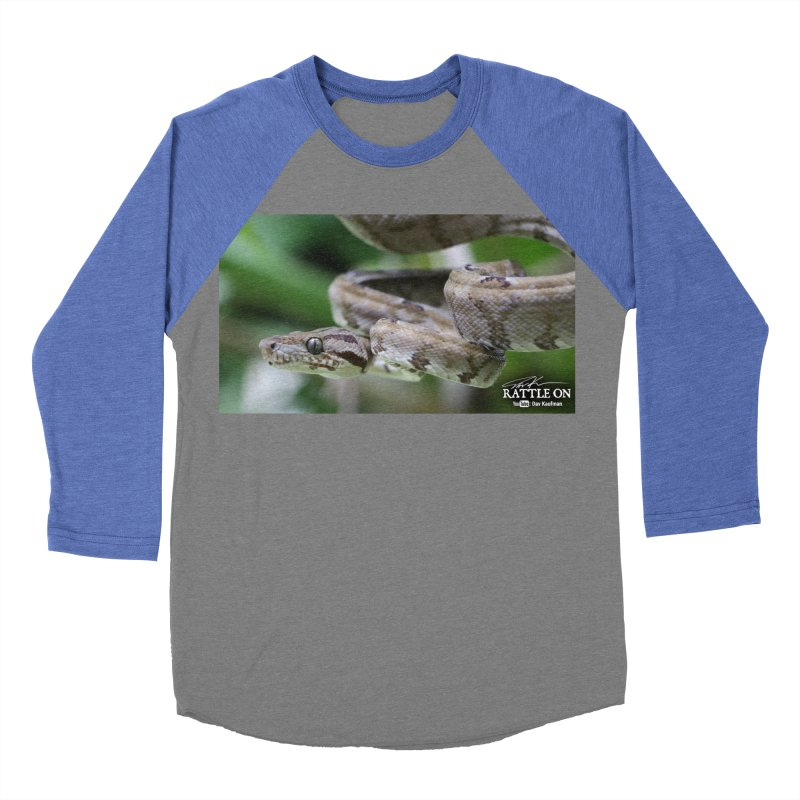 Amazon Tree Boa Men's Baseball Triblend Longsleeve T-Shirt by Dav Kaufman's Swag Shop!