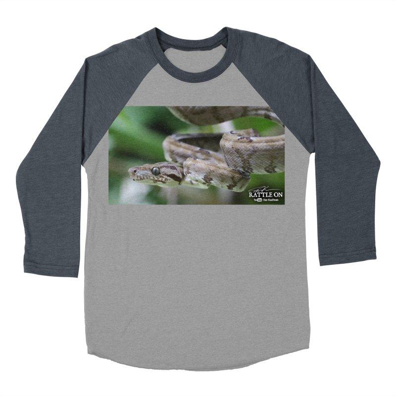 Amazon Tree Boa Men's Baseball Triblend T-Shirt by Dav Kaufman's Swag Shop!