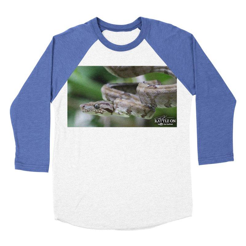 Amazon Tree Boa Men's Baseball Triblend Longsleeve T-Shirt by Dav Kaufman's Swag Shop!