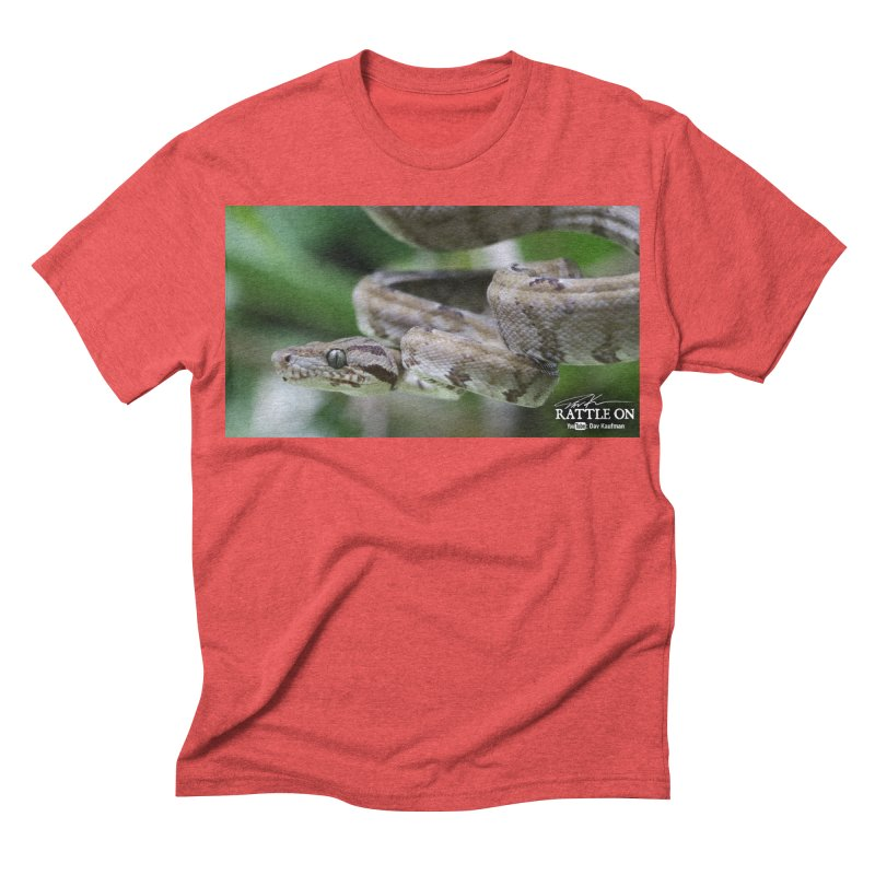 Amazon Tree Boa Men's Triblend T-shirt by Dav Kaufman's Swag Shop!