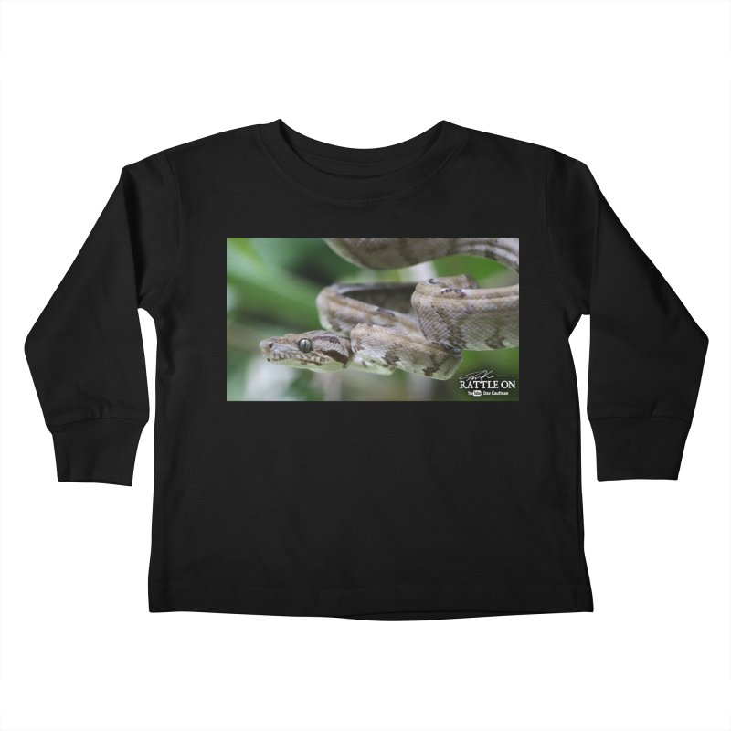 Amazon Tree Boa Kids Toddler Longsleeve T-Shirt by Dav Kaufman's Swag Shop!