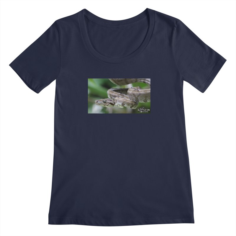 Amazon Tree Boa Women's Regular Scoop Neck by Dav Kaufman's Swag Shop!